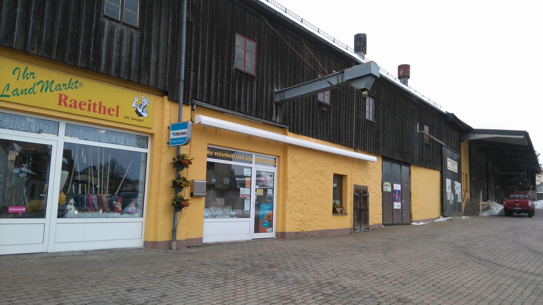 Lagerhaus Landmarkt Raeithel Außenausnahme